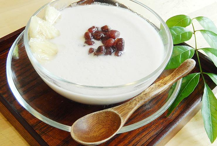 ココナッツミルクのお汁粉