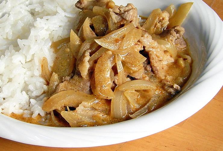 カレーの壺レシピ たまねぎたっぷり豚カレー