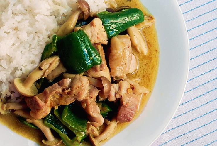 カレーの壺レシピ 鶏肉ピーマンカレー
