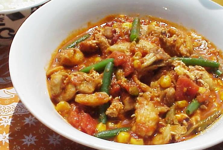カレーの壺レシピ トマタマチキンカレー