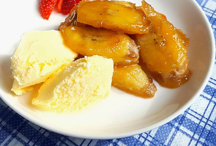 バナナのメープルシュガーソテー
