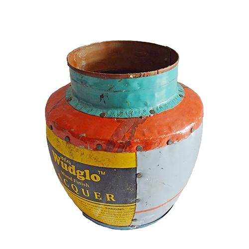 MING商品 リサイクルブリキの花瓶