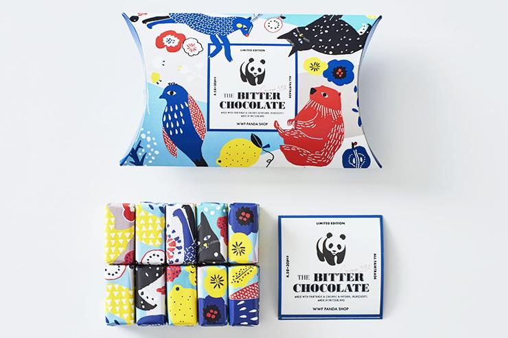 WWFジャパン「パンダショップ」パッケージの一口サイズチョコの事例