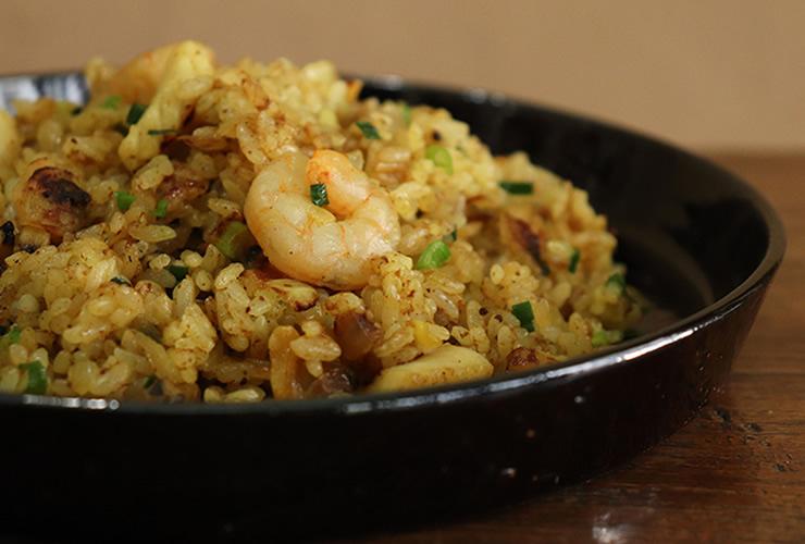 海鮮カレー炒飯